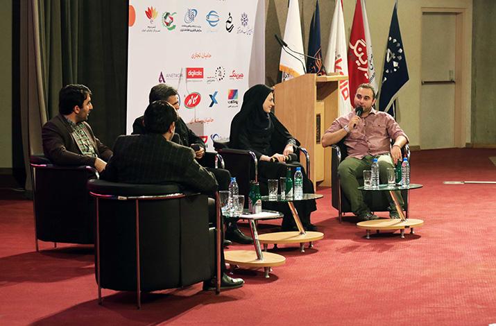 پنل نقش سازمان های دولتی در توسعه کسب و کار های اینترنتی در مراسم اختتامیه هشتمین جشنواره وب و موبایل ایران
